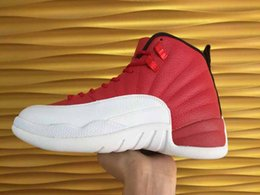 Superman Lycra Pas Cher-Drop Shipping Super Perfect Qualité Retro 12 Gym Red OVO Blanc Pour Hommes Basketball Sport Shoes Taille 41-47