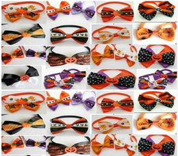 small male dog collar 2019 - (100pcs lot) 2019 Halloween Christmas Holiday Pet Puppy Dog Cat Bow Ties Cute Neckties Collar Accessories Grooming Suppl