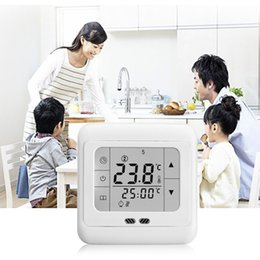 Chinese  Touch Screen Weekly Programmable Heating Thermostat Blue Backlit C07.H3 16A Cheap Price hot selling manufacturers