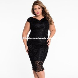 Barato Vestido Elegante Da Forma Elegante-2XL plus size lace dresses slash neck bodycon sem mangas vestidos de festa de noite big beautiful women fashion elegant socialite vestidos de baile