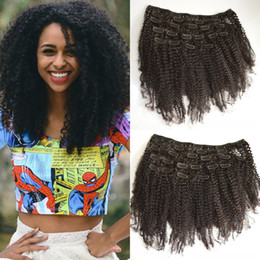 $enCountryForm.capitalKeyWord NZ - Afro Kinky Curly Clip in Human Hair Extensions 8-22inch Brazilian Curly Hair Clip ins G-EASY DHL FREE