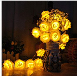 night garden party decorations NZ - 30LEDs4M Rose Flower Fairy String Lights Wedding Garden Party Christmas Decoration garland LED Night Light