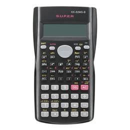Multi-função Handheld 2 Line Calculadora Científica de Exibição 82MS-A Calculadora Multifuncional Portátil para Ensino de Matemática em Promoção