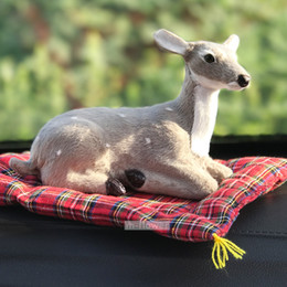 $enCountryForm.capitalKeyWord Canada - Deer Toy With Mat Bamboo Charcoal Bag Simulation Pet Doll Car Office Home Internal Decoration Activated Carbon Remove Formaldehyde Gifts