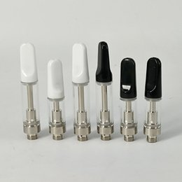 Wholesale Atomizer For Concentrates NZ - OEM logo th205 th210 Ceramic tip Glass Ceramic Cartridge 510 Atomizer Concentrate Vaporizer Thick Oil .5ml 1ml for preheat Battery