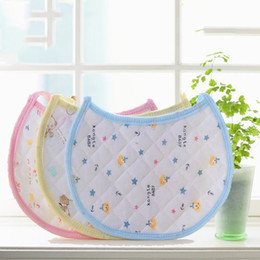 Discount plain white bibs wholesale - New Infant Saliva Baby Watertowels Bibs Baby Wipes Wear Accessories Kids Cotton Apron Handkerchief Children Bib Pinafore