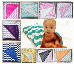 blanket wholesalers Canada - 8 Colors Dot chevron Cotton Swaddleme Baby Minky Wrap Swaddling Blanket Newborn Infant Swaddle Towel Famous Multifunctional