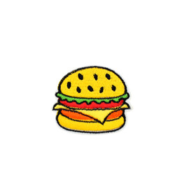 $enCountryForm.capitalKeyWord UK - 10 PCS Hamburger Embroidered Patches for Kids Clothing Iron on Transfer Applique Food Patch for Jeans DIY Sew on Embroidery Badge Sticker