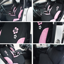 Car Seat Covers For Women Styling Universal Fit Most Airbag Compatible Pink Color With Flower Embroidery