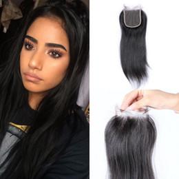 Discount vietnamese virgin hair closure - Vietnamese Human Hair Closure Free Parting Straight Virgin Hair 4x4 Lace Closure With Bleached Knots LaurieJ Hair