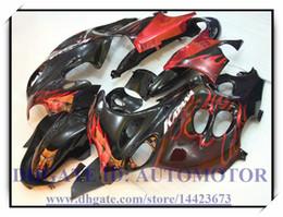 Katana Fairing Black Red Canada - Black red flame abs brand new fairing kit 100% fit for Suzuki GSX 600F 03-06 Katana GSX600F 750F 2003-2006 2004 2005 Katana #JD722