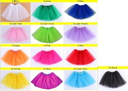Danse En Mousseline De Soie Ballet Pas Cher-Baby TuTu Jupes pettiskirt jupes pour enfants Chiffon Ruffles jupes / Filles Enfants Tutu Party Ballet Dance Wear Jupe Pettiskirt Costume