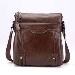 2016 New Fashion Casual Work Shoulder Bags For Men Messenger Bags Male  Genuine Leather Crossbody Bags Sling Sacoche Homme Bolsos f09ace40c90da