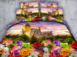 $enCountryForm.capitalKeyWord NZ - Colorful Flowers City 3D Printed Bedding Sets Twin Full Queen King Cal King Dovet Cover Set Pillow Shams Animal Boat Sunset Comforter Set