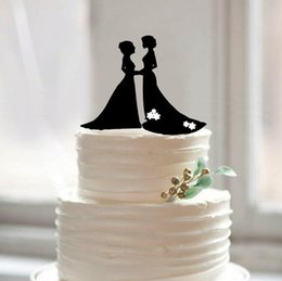 Silhouette wedding cake toppers for sale