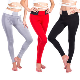 Underwear Play NZ - Europe and The United States Burst Models Women Hit Color Waist Yoga Pants Stitching Lifting Hips Playing Underwear Women