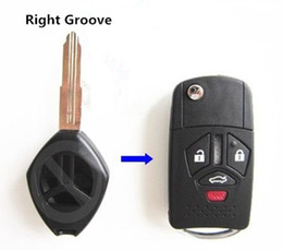 $enCountryForm.capitalKeyWord Australia - Replacement Remote Fold 4 Buttons Right Groove Fob Flip Car Key Case Shell for Mitsubishi Raider Endeavor Galant Eclipse Lancer No Chip