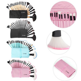 24 make up brush UK - Vanderlife Pro 24 32pcs 6 Colors Makeup Brushes Set Cosmetic Foundation EyeShadow Kabuki Make Up Tools Kits pincel maquiagem with Bag