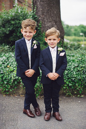 $enCountryForm.capitalKeyWord Australia - Navy Blue 2 Pieces Suit For Little Boys Cool Kids Formal Wear Custom Made Boy Wedding Suit (Jacket + Pants)