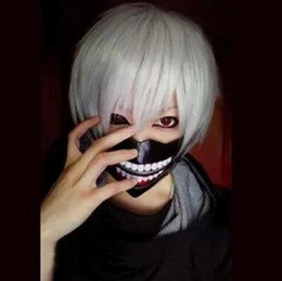 $enCountryForm.capitalKeyWord Canada - Anime Tokyo Ghoul Cosplay Wig Guru Ken Kane Silver White Short Straight Fibre hair Wig Hair Hairpiece party Supplies halloween COS Costume