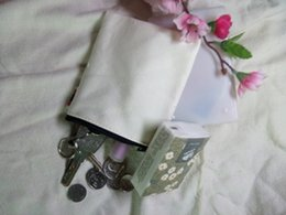 Discount korean cotton fabric diy - Cream White canvas coin purses DIY Mens blank plain cotton small bags red zipper Fashion casual wallets key cases pouche