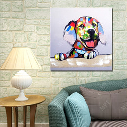 $enCountryForm.capitalKeyWord Canada - 2016 Free Shipping New Design High Quality Cartoon Animal Dog Oil Painting No Framed Handpainted Picture Wall Art Oil Painting on Canvas