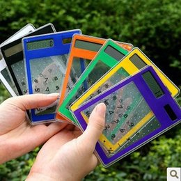solar battery calculator 2019 - 8 thin transparent solar calculator touch slim card calculator card free shipping high-tech environmental protection sol