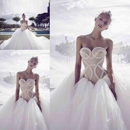 $enCountryForm.capitalKeyWord NZ - Graceful Sweetheart Pearl Beaded Wedding Dresses 2017 Tulle Ball Gown Bridal Gowns Spring Summer Wedding Gowns Custom Made