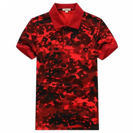 Wholesale camouflage polo shirts men for sale – custom HOT NEW MEN FASHION SUMMER COTTON POLO SHIRT HIGH QUALITY DESIGNER Camouflage MEN CASUAL POLO SHIRTS TOPS M1526 SIZE M L XL XXL
