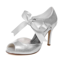 New Sandals Styles Canada - 2016 New Style Silver color Shinny Fabric Nice Sandal Bridal Shoes Wedding Dress Shoes Handmade Shoes Evening Shoes Prom Party Shoes Size 42