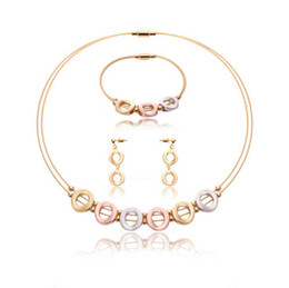 Wholesale Popular 18KGP Jewelry Sets High Quality 36L Necklace Earrings Bracelet Jewelry Sets For Women Best Gift Jewelry 61163032