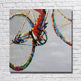 bicycle life Australia - Wall Design Abstract Pictures on Canvas Home Decor Sitting Room Wall Pictures Modern Bicycle Oil Painting 1 Peices No framed