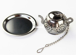 $enCountryForm.capitalKeyWord Canada - MINI Cute Stainless Steel Tea Infuser Pendant Design Home Office Tea Strainer Gift Teapot Type Creative Tea Accessories