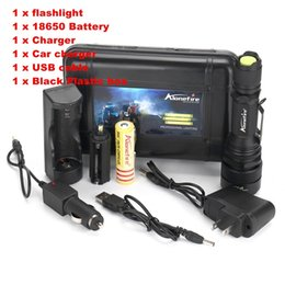 Discount torch flashlight charger - Alonefire G910 CREE XM-L T6 LED 5Mode Zoomable USB Flashlight Torch light with +1X18650 Battery and charger