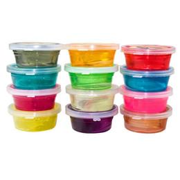 12 Cores / Set Lodo Argila Pode Ser Não-tóxico Proteção Ambiental Soprando Bolhas de Cristal Lama Clay Pode Desenhar Lodo Engraçado brinquedos frete grátis venda por atacado