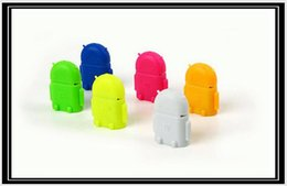 Options Cable Canada - Multi color Option Robot Shape Android Micro USB To USB 2.0 Converter OTG Adapter For Samsung Galaxy S3 S4 S5
