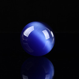 Magic Ball Pink Canada - ABOUT 50mm natural colorful cat's eye magic crystal ball,cat's eye stone ball feng shui ornaments gift