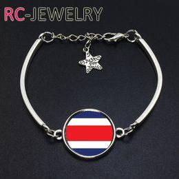 Cup Chain Settings Australia - 2017 Fashion Jewelry Costa Rica football team Flag bracelet Hand-made World Cup Alloy bracelet Bracelet Bangle