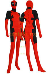$enCountryForm.capitalKeyWord Canada - Deadpool Costume Red and Black Spandex Lycra Halloween Party Cosplay Zentai Suit