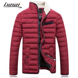 $enCountryForm.capitalKeyWord NZ - Fall-Winter Jacket For Men Cotton Down Parka Plus Size Warm Stand Collar Coat Male Wadded Outerdoor Overcoat YY508