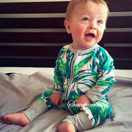 toddler clothing sizes 2019 - Multi styles Ins 2016 autumn winter baby romper Boy girl flowers Long zipper jumpsuits baby clothing Toddler print free