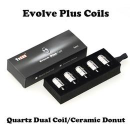 Original Yocan Evolve Plus QDC Coils and Ceramic Donut Coils 5pcs pack 100pcs box Replacement Coil for Yocan Evolve Plus Wax Pen