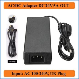 24v charger 5a Canada - 24V 5A UK Plug AC DC Adapter AC100-240V Converter to DC 24V 5A 120W Power Supply Charger Adapter For LED Strip lights laptops