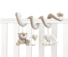 Hanging rattle online shopping - Cute Infant Baby play Activity Spiral Bed Stroller Toy Set Hanging Bell Crib Rattle Toys For Baby