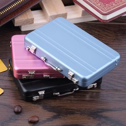 $enCountryForm.capitalKeyWord UK - Mini Briefcase Business Card Case ID Holders Password Aluminium Credit Card Holder