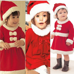 kids carnival clothing Australia - 2016 Christmas Gifts Baby girls Rompers Kids Clothes Long Sleeve One-Piece Clothing Baby Christmas Rompers with Hats Newborn Baby Rompers