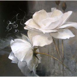 Black White Flower Paintings Online Shopping Black White Flower