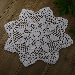 $enCountryForm.capitalKeyWord Australia - Handmade Crocheted Doilies Table Napkin Pad Round Vintage Wedding Home decorationCoasters 3 PCS 27CM 10.8""