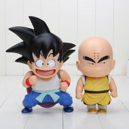 Free Goku Figures Australia - 2pcs set Dragon Ball figure Sun Goku Kuririn Q version PVC Action Figure Model Toy Doll approx 17-22cm free shipping