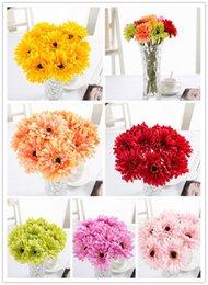 venta al por mayor 10 cm / 4 pulgadas crisantemo africano fu lang girasol flores celebración de la boda decoración del partido en venta